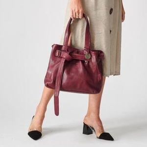 NWT Wanderers Travel Co. Valencia Handbag burgundy